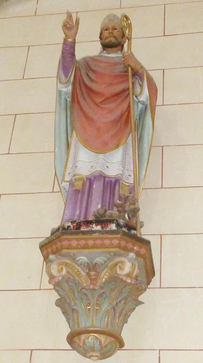 009 lanmeur eglise paroissiale statue de saint samson 2
