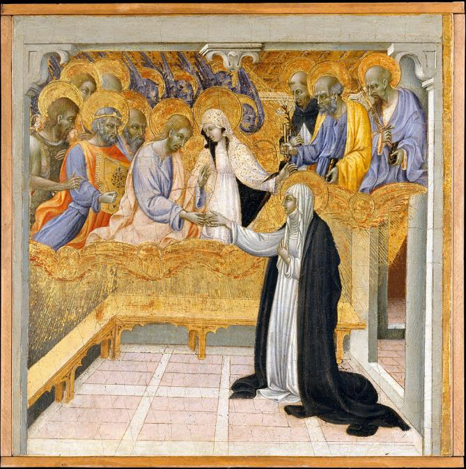 1018px giovanni di paolo the mystic marriage of saint catherine of siena