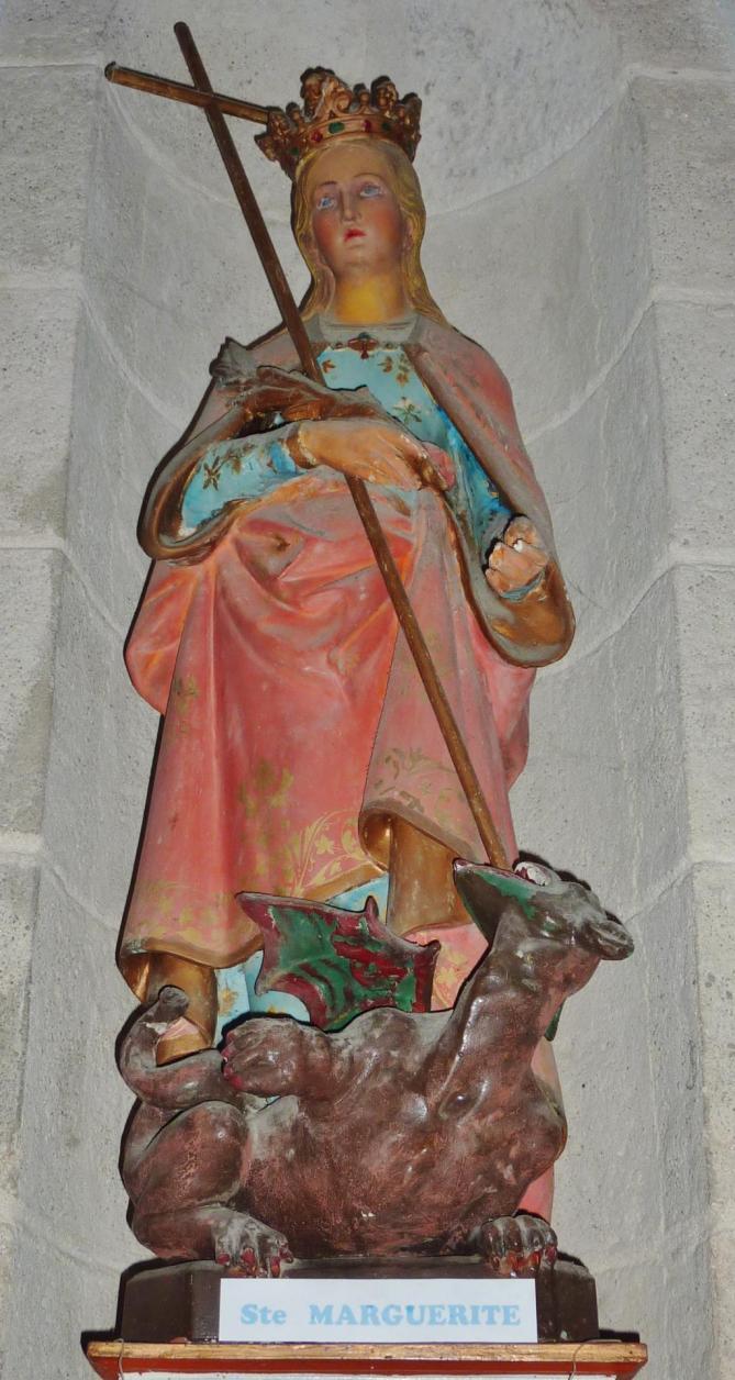 156 fouesnant eglise statue de sainte marguerite