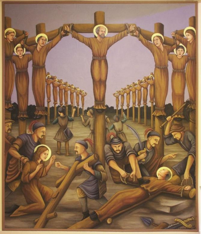 16040 holy martyrs of japan church painting of martyrs