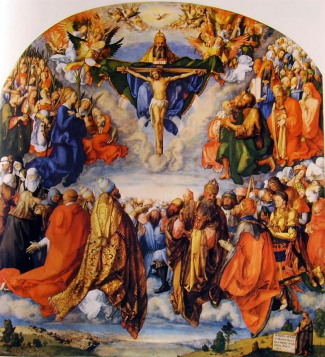 23 durer adorazione della santissima trinita 22