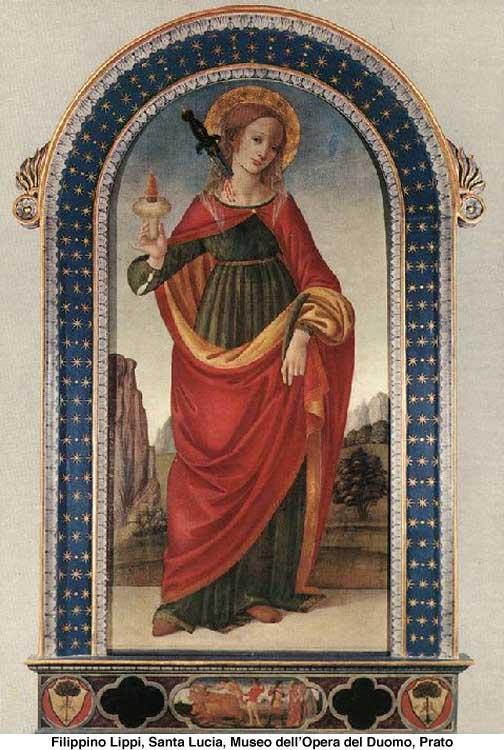Filippino Lippi, Santa Lucia dans immagini sacre 25550ah