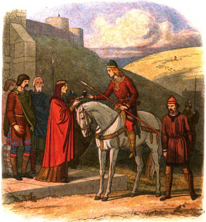 A chronicle of england page 072 edward murdered at corfe