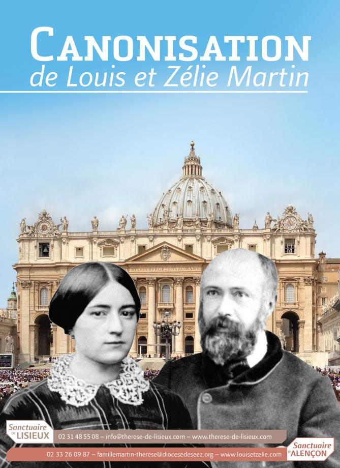 Affiche canonisation epoux martin 2