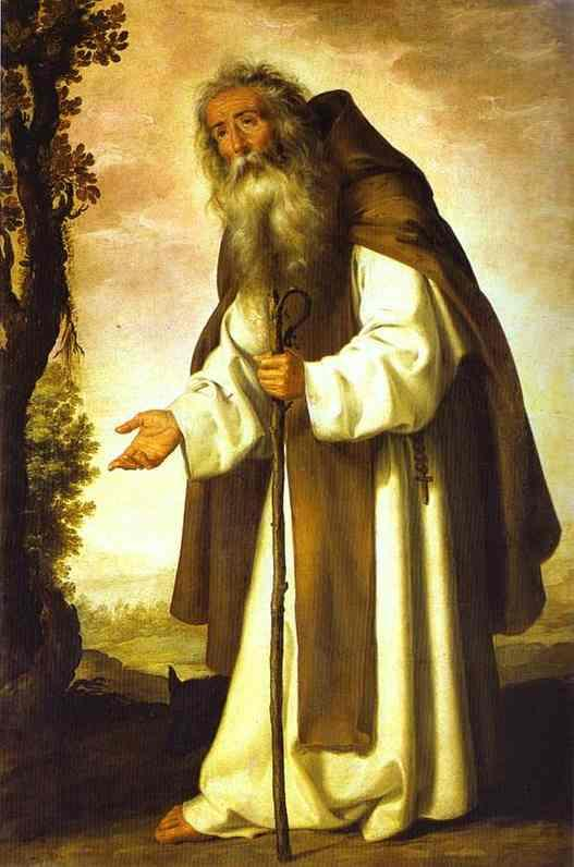 LE SAINT DU JOUR !! - Page 2 Anthony-abbot-by-zurbaran