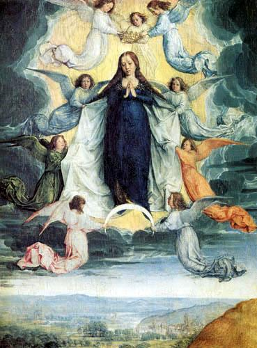 Ascension of the virgin michel sittow 2
