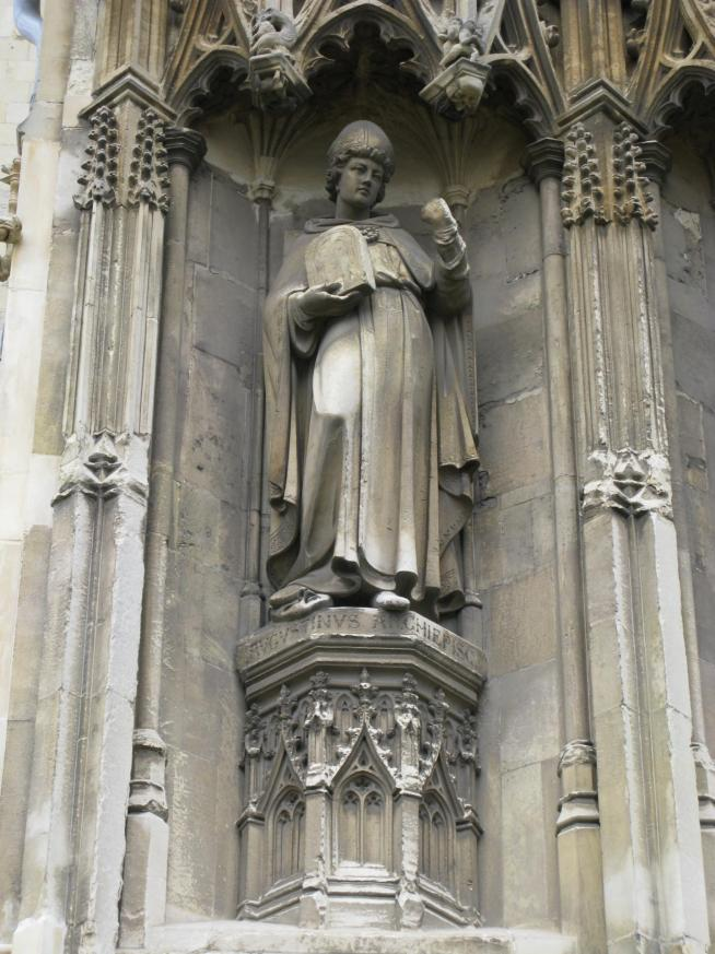 Augustine of canterbury sculpture on canterbury cathedral