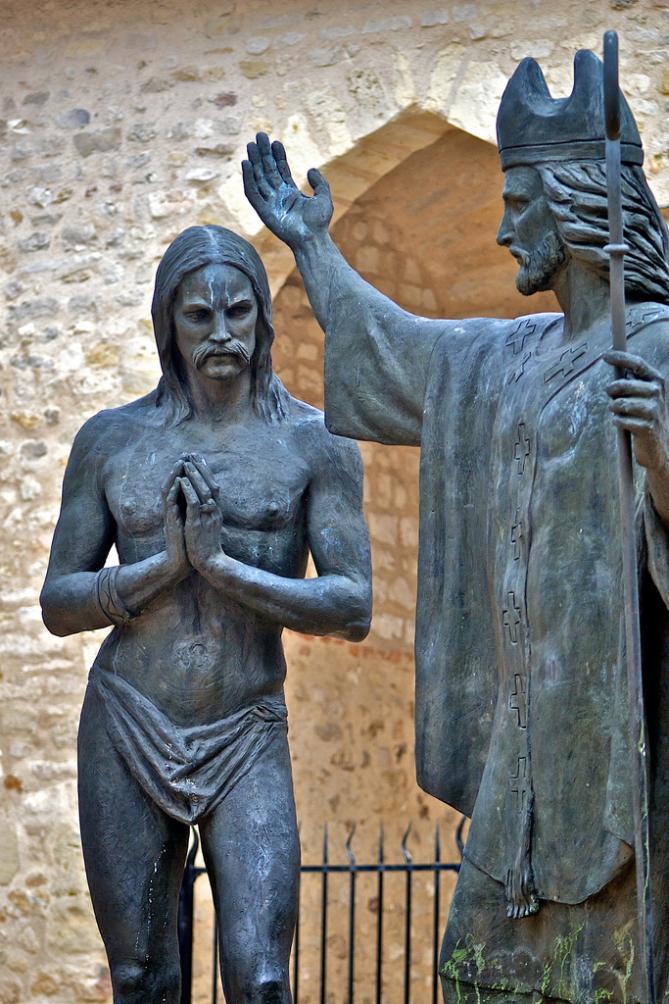 Baptism of clovis basilique saint remi de reims 1