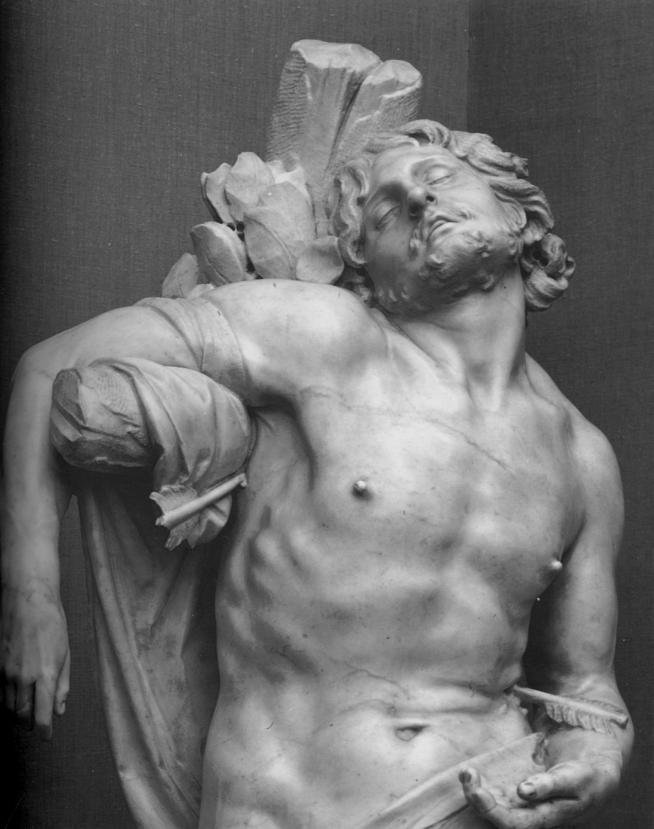 Bernini saint sebastian detail 1