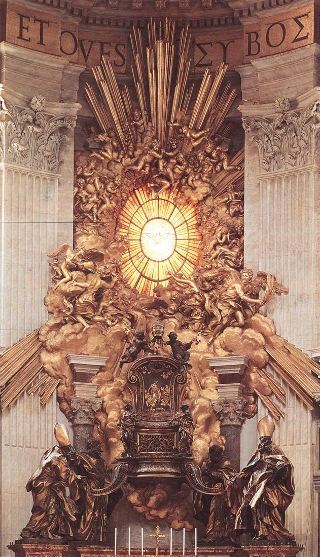Bernini the throne of saint peter 2