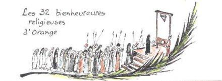 Bienheureuse iphigenie de saint matthieu martyre de la revolution francaise a orange 1795