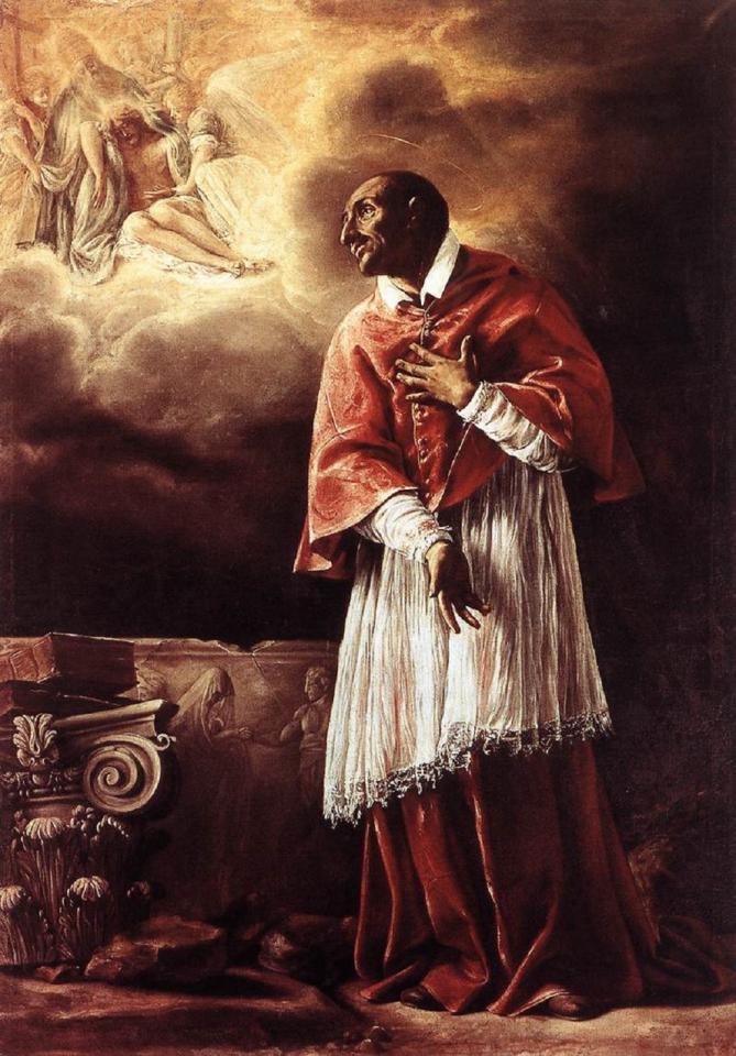 ✟Les Saints - Les Saintes du  Jour✟ - Page 18 Borgianni-orazio-st-carlo-borromeo.2