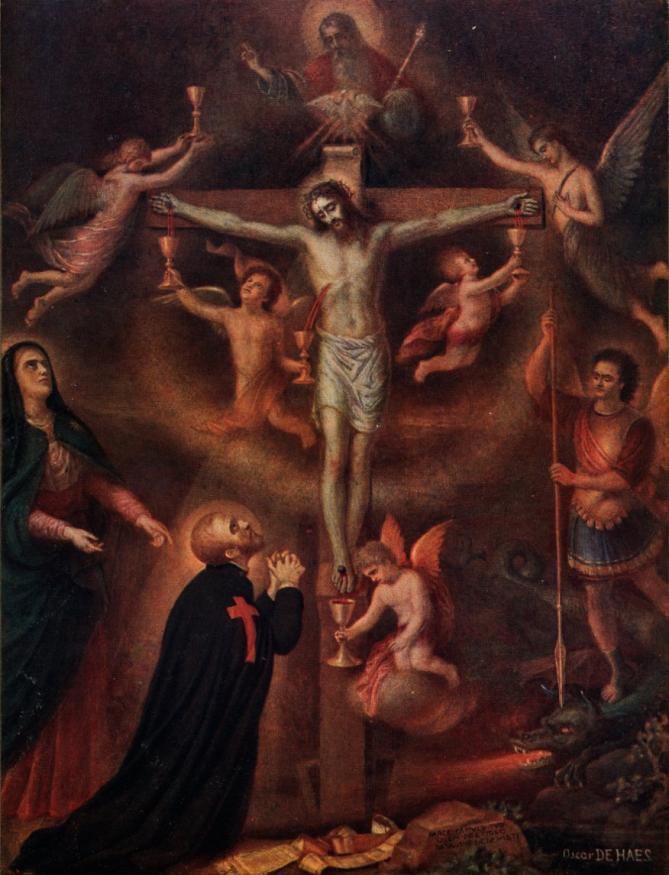 Christ en croix oscar dehaes