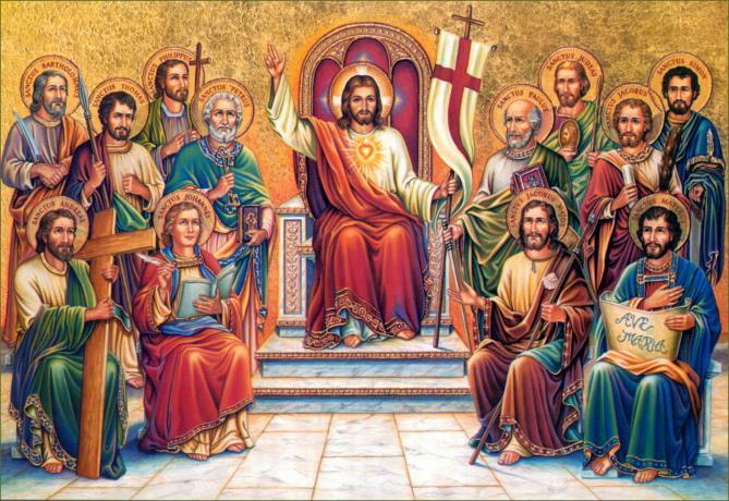 Christ king apostles