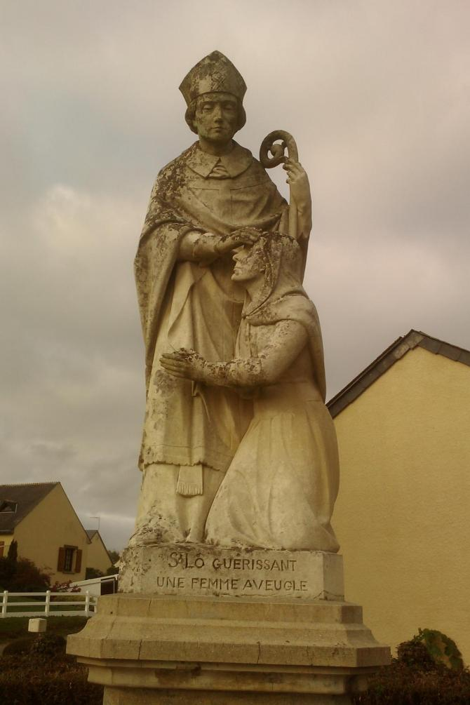 Courcy saint lo guerissant une femme aveugle
