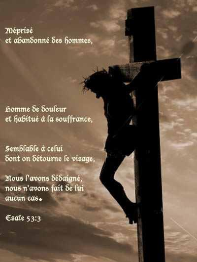 Croix jesus seul texte