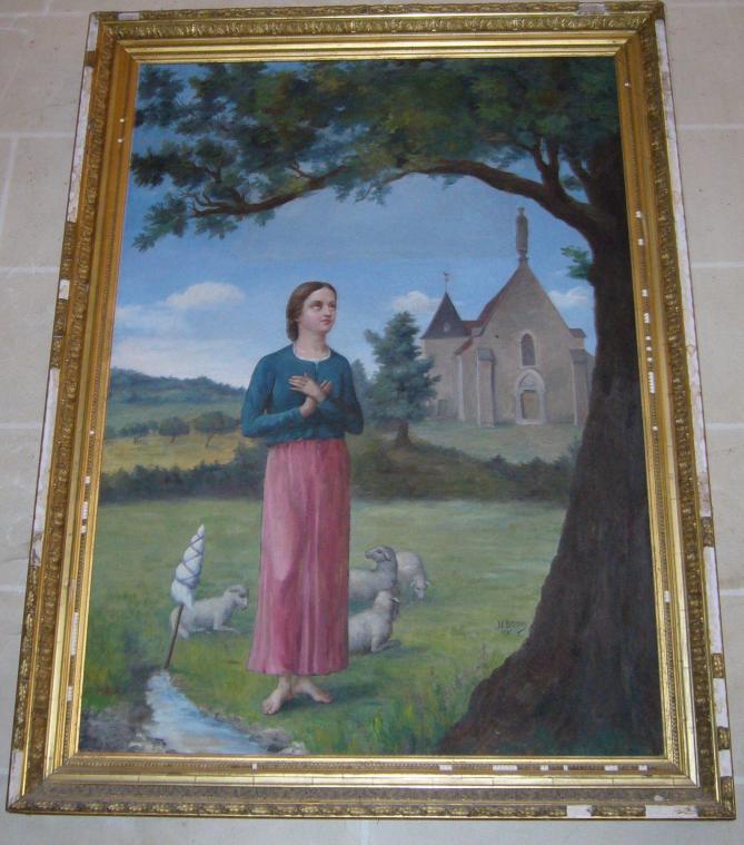 Cudot eglise tableau sainte alpais 2