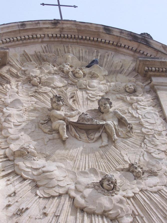 Detail de la chapelle des penitents noirs d avignon