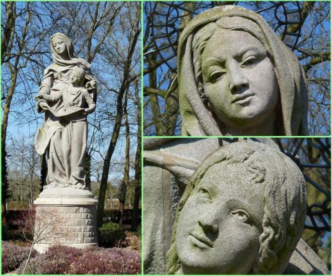 Detail des visages de ste anne patronne des bretons et de la vierge marie 1