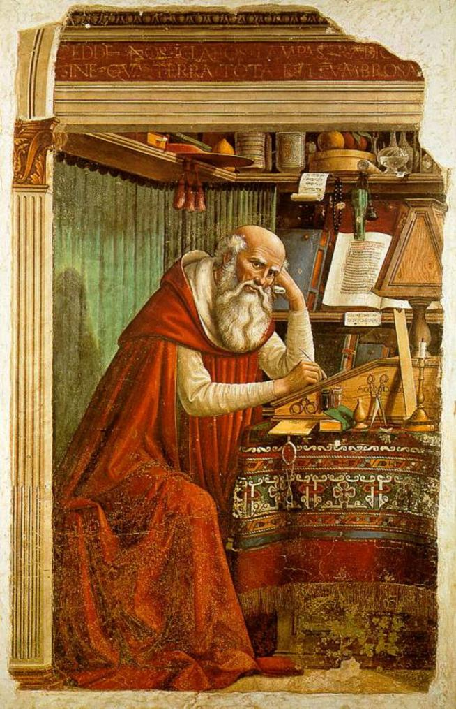 Domenico ghirlandaio st jerome in his study 11