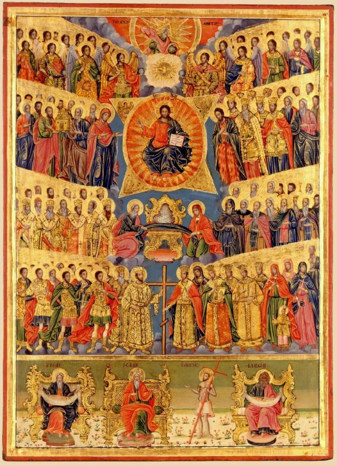 Fete de tous les saints icone d aghiou pavlou xixeme siecle 2