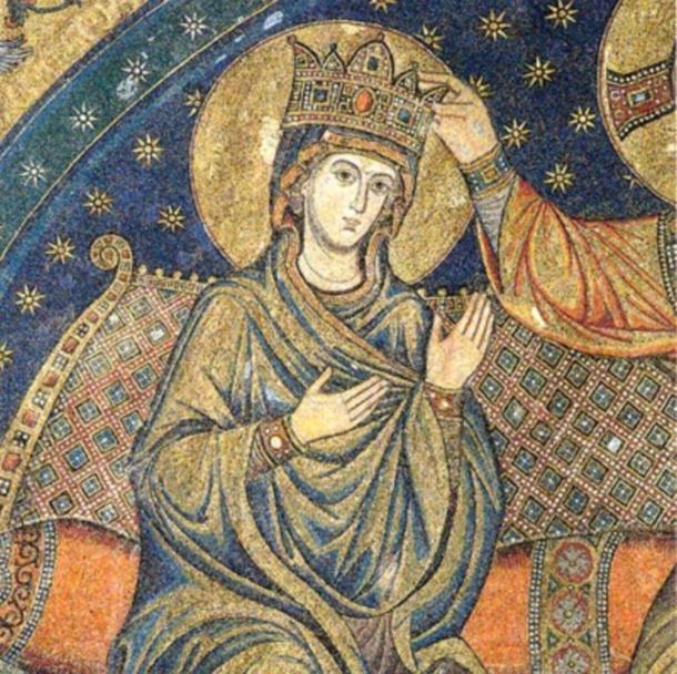Fresque du couronnement de la tres sainte vierge marie dans la basilique sainte marie majeure a rome 1