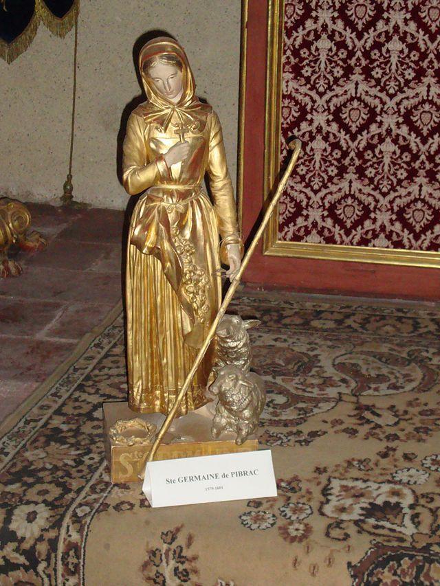 Gimont gers fr statue sainte germaine de pibrac