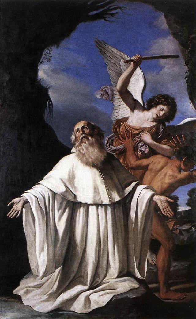 Guercino san romualdo