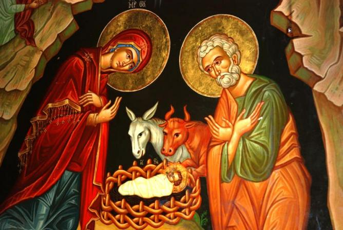Icone de la naissance de jesus 1