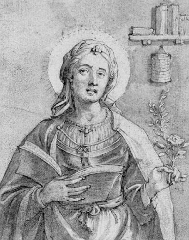 Jean valdor sainte lydwine de schiedam gravure xviie