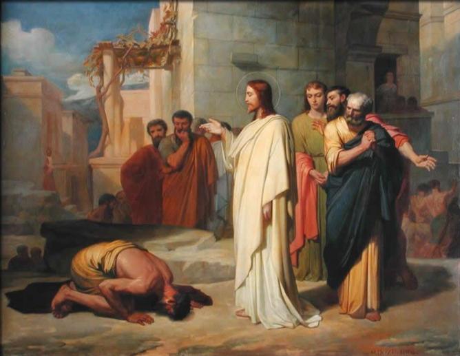 Jesus healing a leper jean marie melchior doze