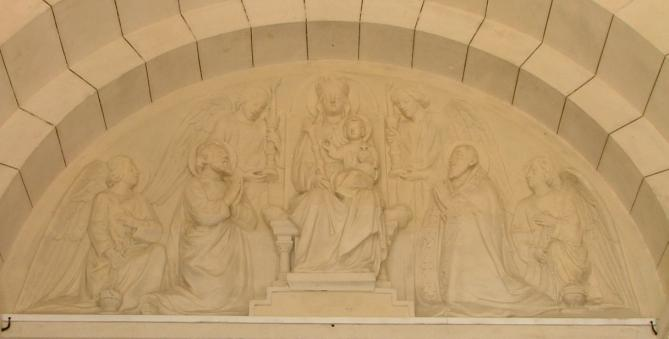 Joucla la vierge entre saint francois de sales et saint barnabe 1