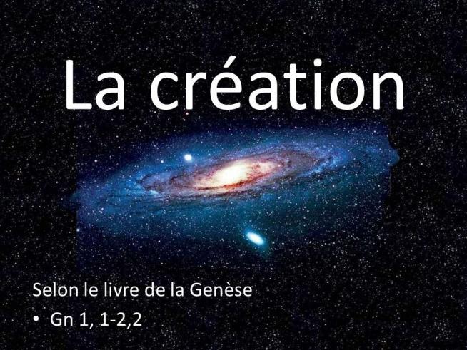 La creation selon le livre de la genese gn 1 1 2 2