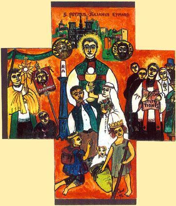 La croix de saint pierre julien eymard fondateur des peres du saint sacrement 1