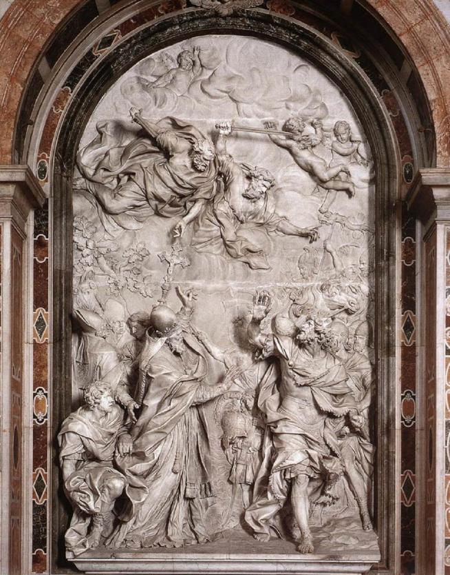 ✟Les Saints - Les Saintes du  Jour✟ - Page 18 La-rencontre-entre-saint-leon-i-et-attila.11