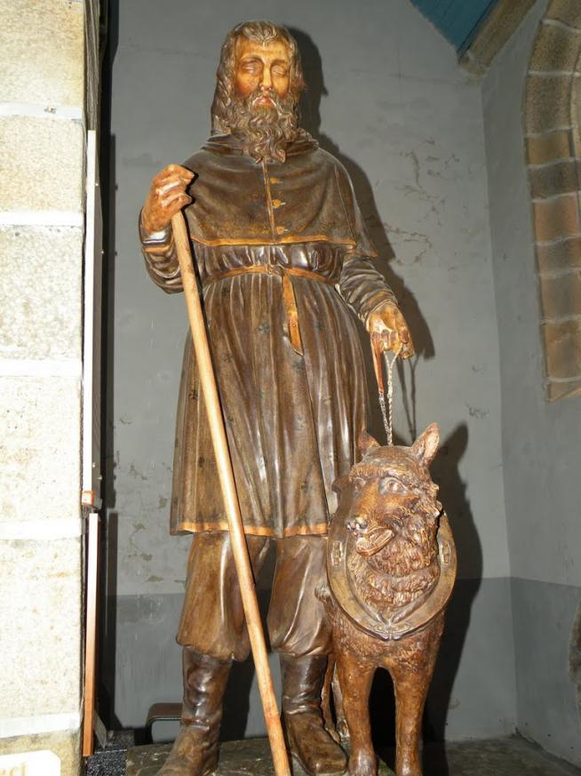 Lanhouarneau saint herve et son loup 1
