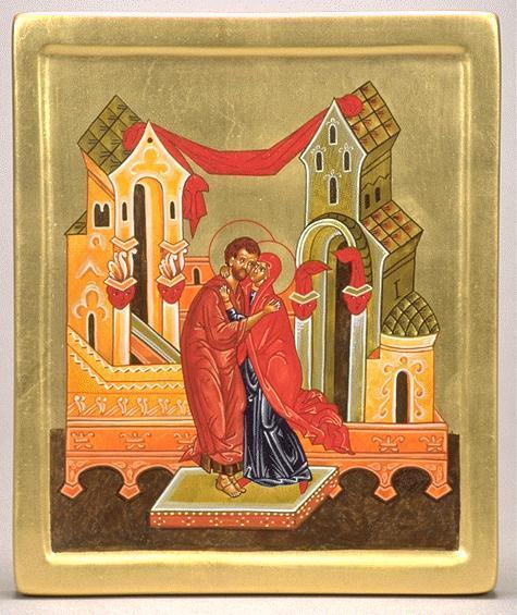 Le baiser de sainte anne et saint joachim au pont golden gate de jerusalem 1