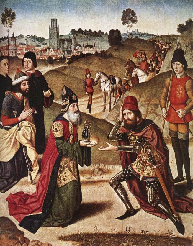 Meeting of abraham and melchizadek