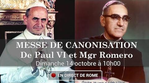 Messe de canonisation de paul vi et mgr romero