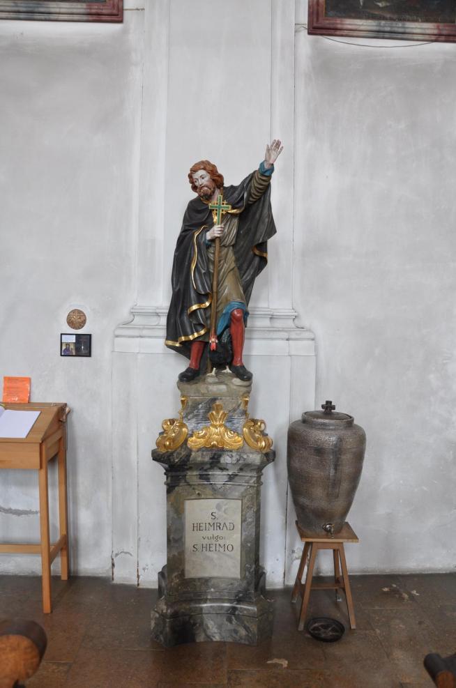 Messkirch pfarrkirche figur heimrad 01 11