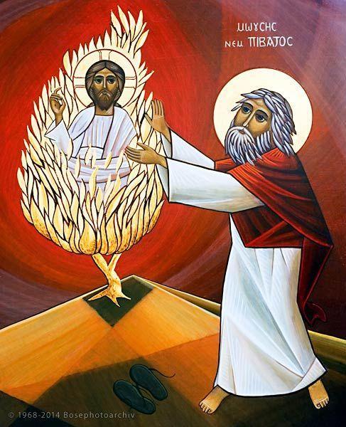 Moise au pied du buisson ardent