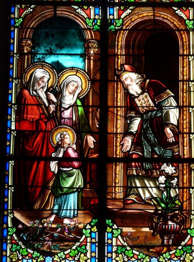 ✟Les Saints - Les Saintes du  Jour✟ - Page 18 Molieres-24-eglise-vitrail-2-