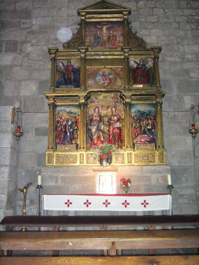 Monasterio de leyre retablo de las santas nunilo y alodia