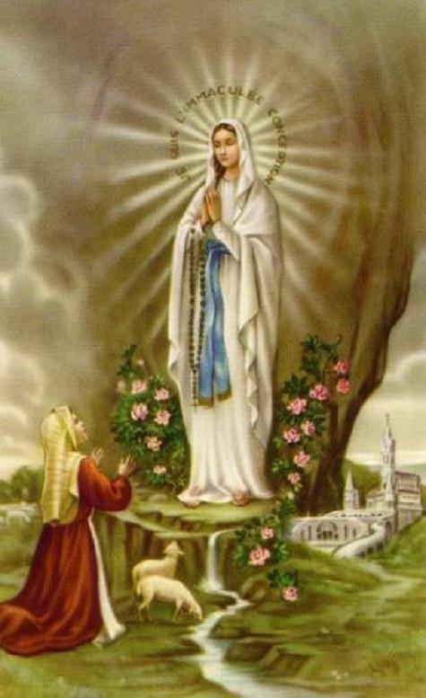 Notre dame de lourdes et sainte bernadette 2 2