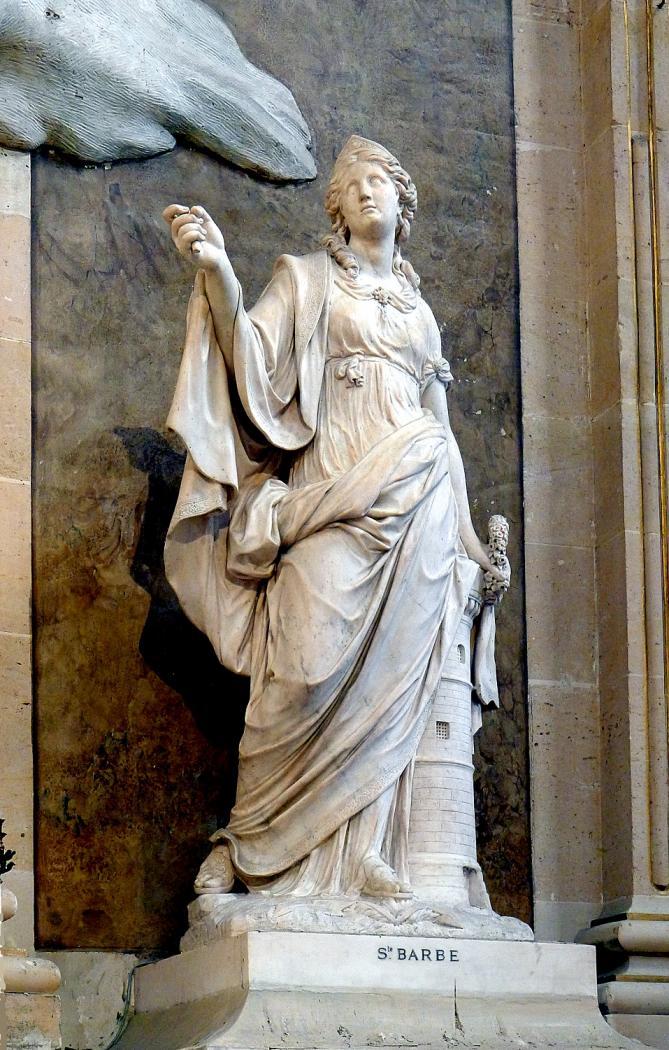 P1010204 paris ier eglise saint roch statue de sainte barbe reductwk 1