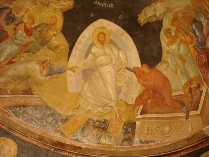 Peinture murale orthodoxe istanbul anastasis 1