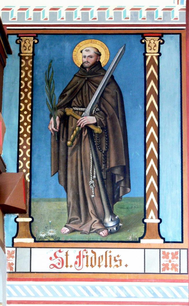 Pfarrenbach wandmalerei fidelis von sigmaringen 11