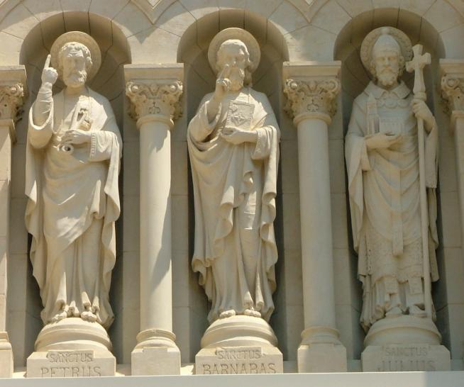 Pigalio saints pierre barnabe et jules 1