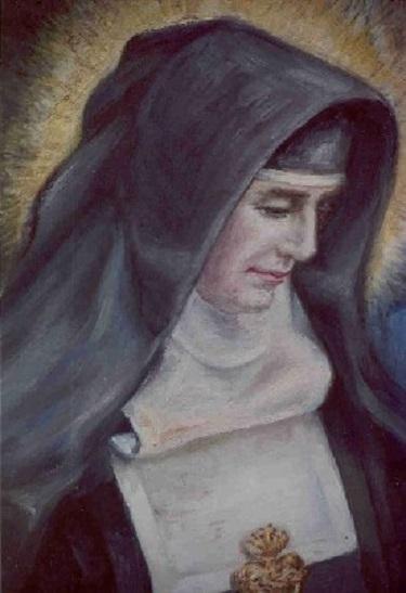 Pintura realizada copiando una foto hecha a la santa 2