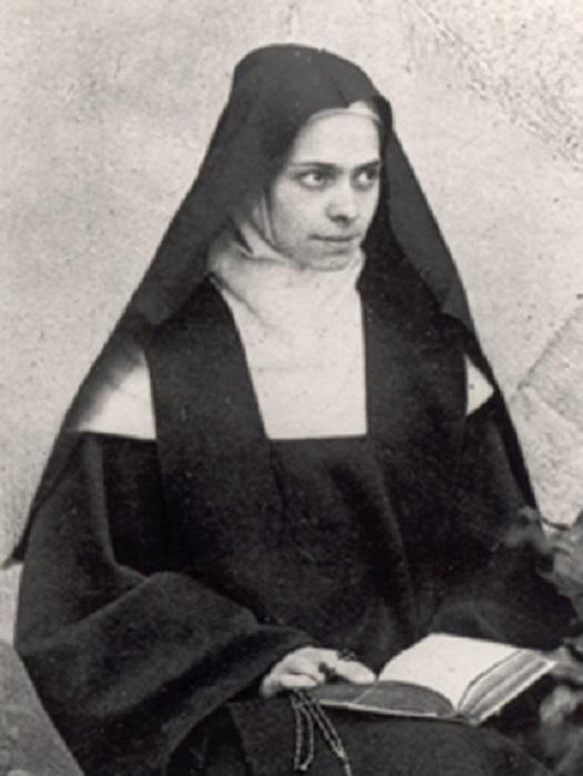 Portrait d elisabeth de la trinite portant son voile de religieuse 2